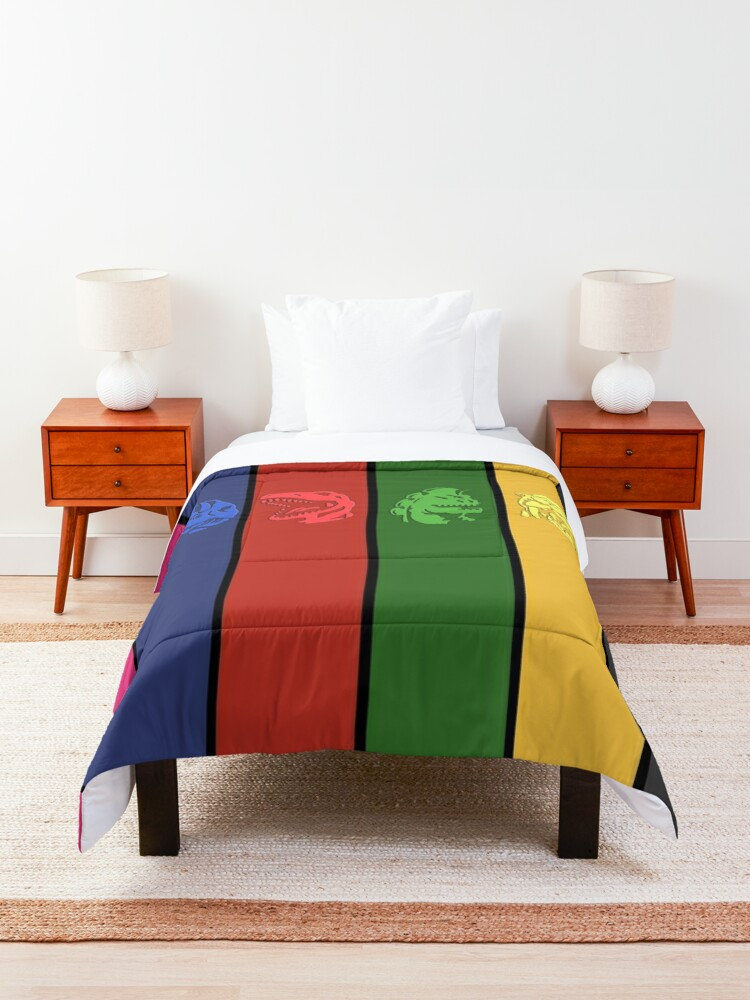 Alternate view of 6 Colored Zord Coins Comforter