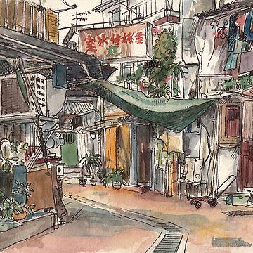 Wang Street, Sai Kung by adolfux