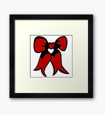 ribbon bow  bowtie Framed Print
