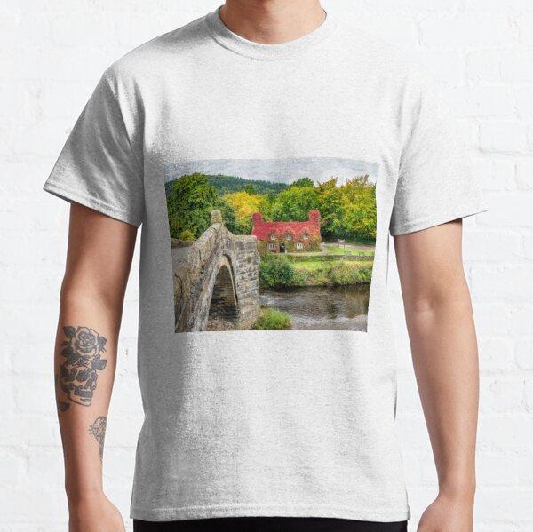 Autumn Tea House Llanrwst Wales Classic T-Shirt