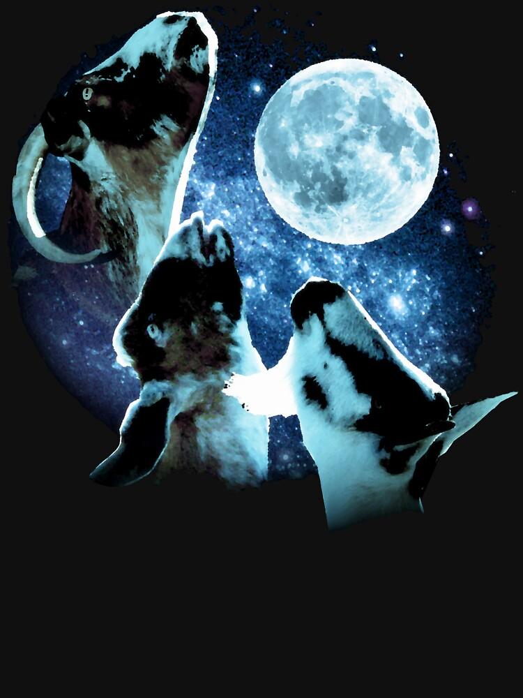 TShirtGifter presents: Three Goat Moon | Unisex T-Shirt
