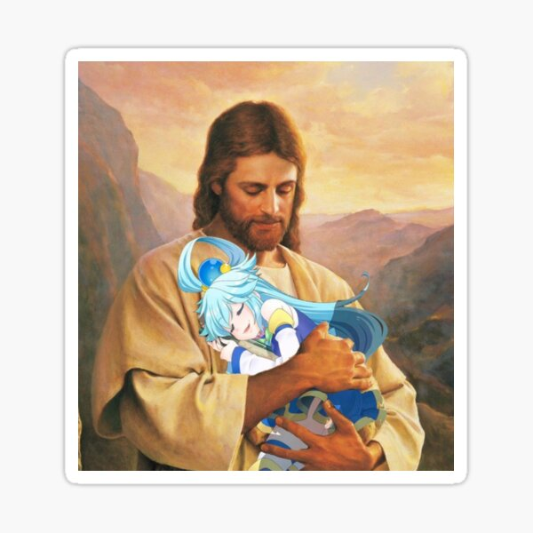 Jesus loves Aqua <3 Sticker