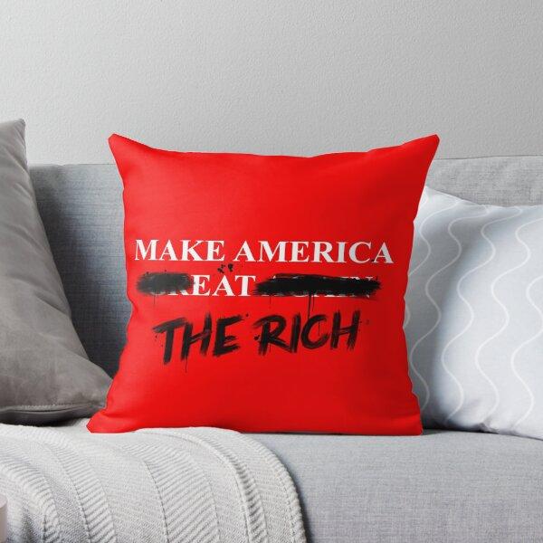 Make America Eat The Rich Throw Pillow