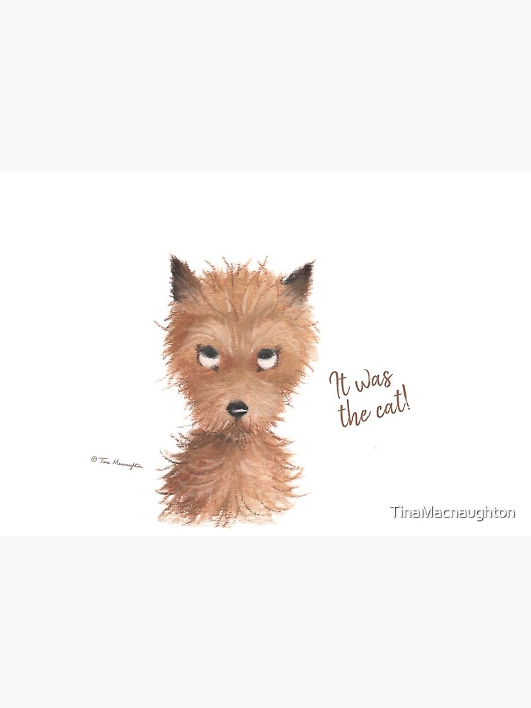"Cheeky Puppy Dog Eyes - ""It was the cat!"" by TinaMacnaughton"