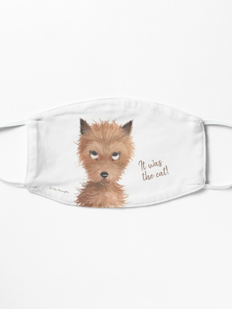 """Alternate view of Cheeky Puppy Dog Eyes - """"It was the cat!"""" Mask"""