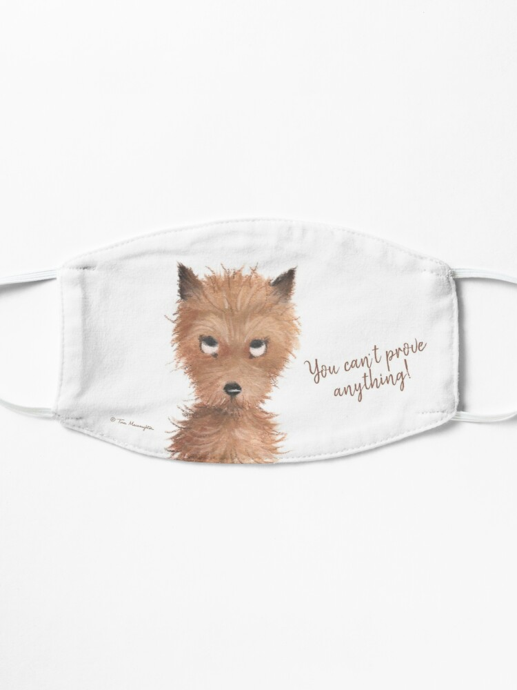 """Alternate view of Cheeky Puppy Dog Eyes - """"You can't prove anything!"""" Mask"""