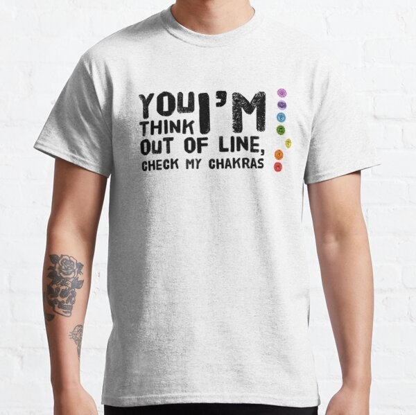 yoga - chakra out of line -  with graphic  Classic T-Shirt