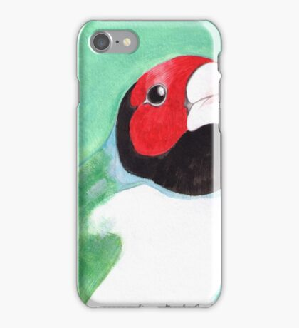 Gouldian Finch in Red and Green iPhone Case/Skin