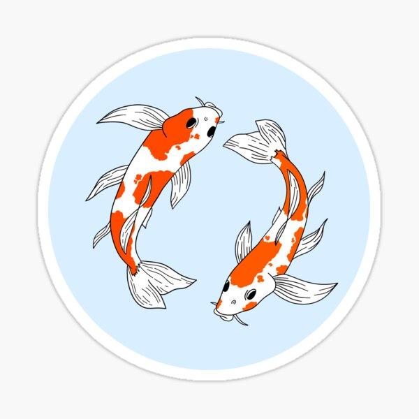 2 Vibrant Koi Fish Sticker