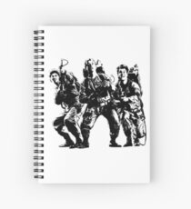 Ghostbusters Film Poster Silhouette Spiral Notebook