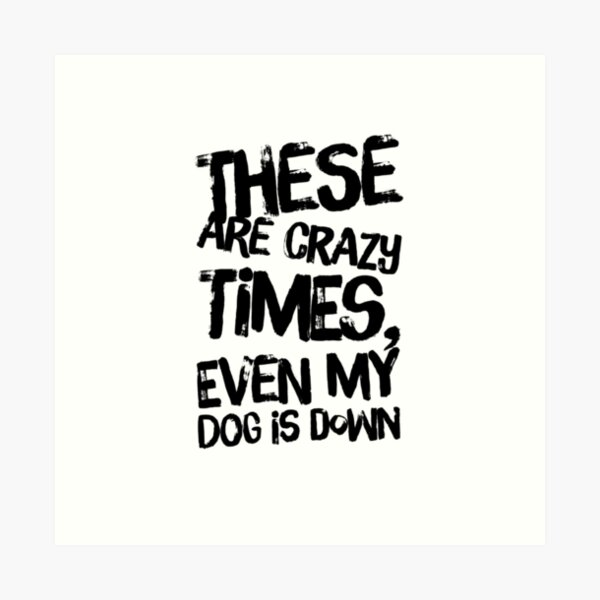 yoga - crazy time my dog is down Art Print