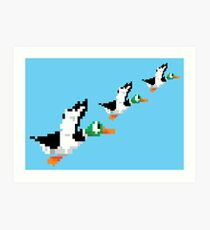 8-Bit Nintendo Duck Hunt 'Trio' Art Print