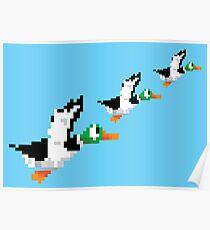 8-Bit Nintendo Duck Hunt 'Trio' Poster