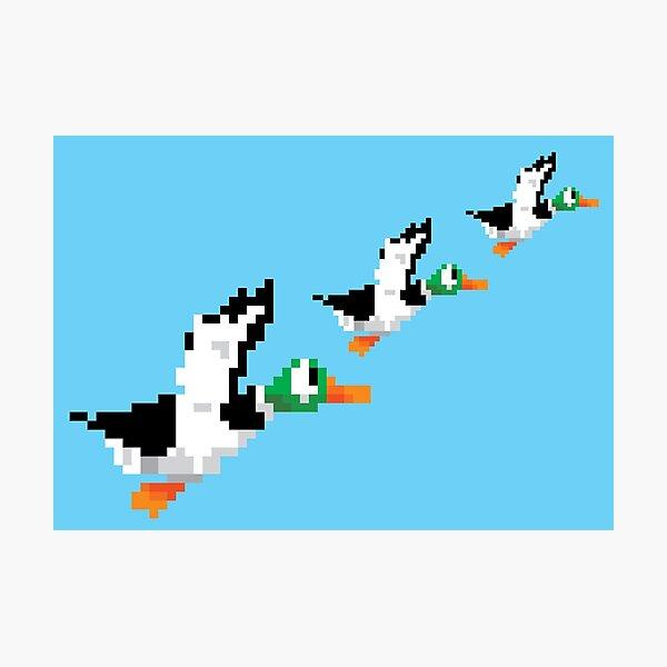 8-Bit Nintendo Duck Hunt 'Trio' Photographic Print