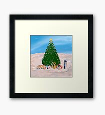 Christmas Tree and Presents Framed Print