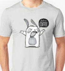 Feed me Coffee Cartoon Bunny T-Shirt