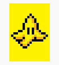 8-Bit Nintendo Mario Kart Banana Peel Photographic Print