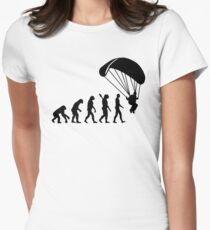 Evolution Skydiving Parachute jumping Women's Fitted T-Shirt