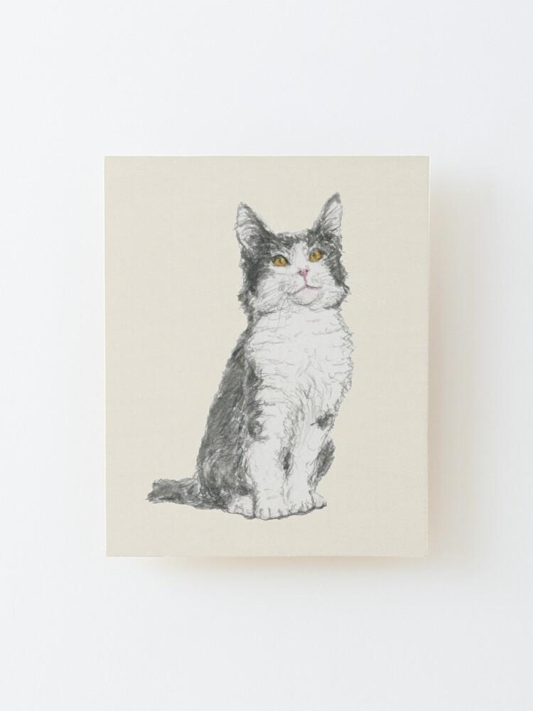 Alternate view of Kitty Mounted Print