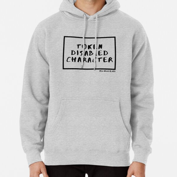 Token Disabled Character Black Text Pullover Hoodie