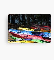 Kayaks of Cape Breton Canvas Print