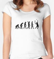 Evolution Tennis player  Women's Fitted Scoop T-Shirt
