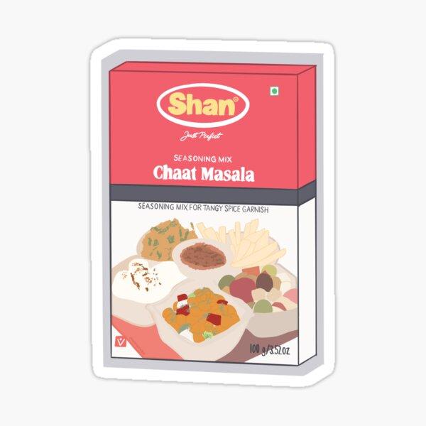 Shan Chaat Masala Box Sticker