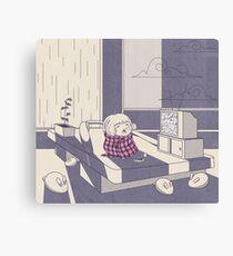 Rainy day nap Canvas Print