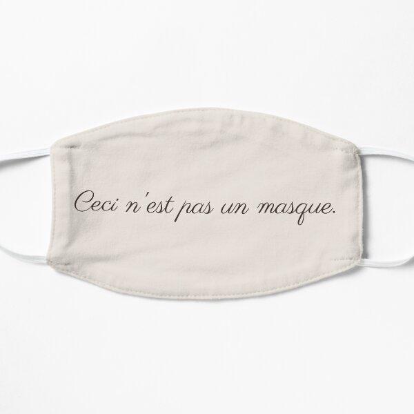 Ceci N'Est Pas un Masque Beige Flat Mask