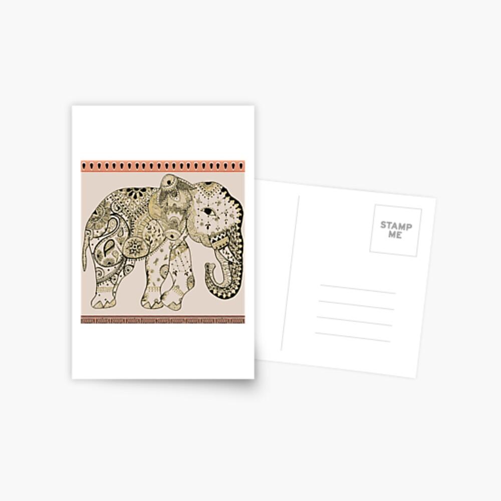 Indian Summer Mrs Ellie-Phant Postcard