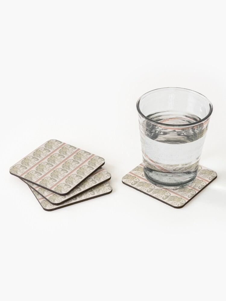 Alternate view of Indian Summer Mrs Ellie-Phant Coasters (Set of 4)