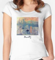 Monet: Impressions of Sunrise Women's Fitted Scoop T-Shirt