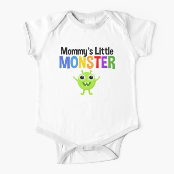 Mommy's Little Monster Short Sleeve Baby One-Piece