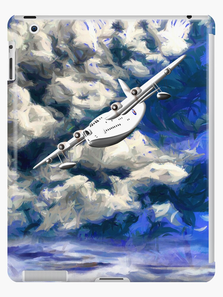 Short Sunderland Flying Boat WWII iPad/iPhone/iPod/Samsung cases by Dennis Melling