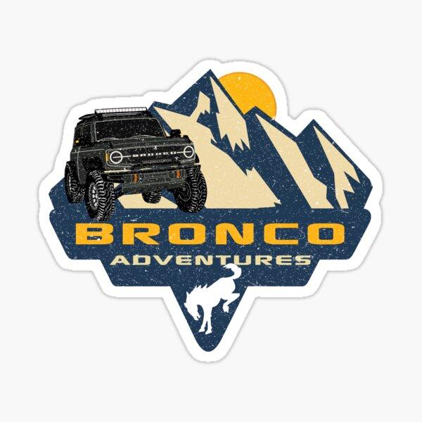 Bronco Adventures - 2021 Bronco - Vintage Look Sticker