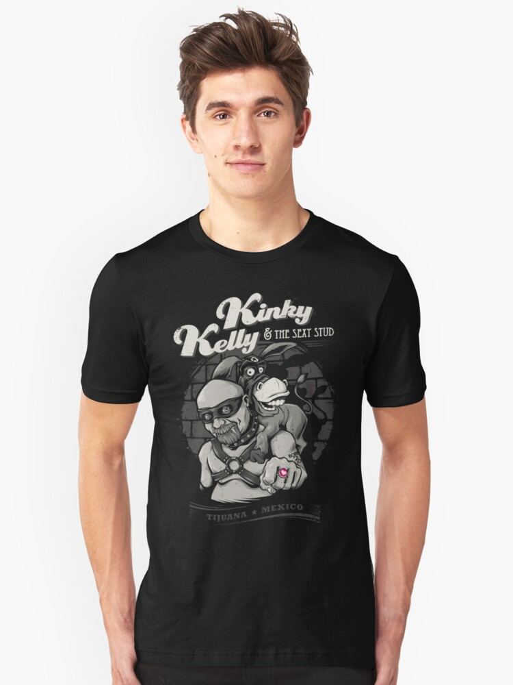 Kinky Kelly And The Sexy Stud Unisex T-Shirt Front