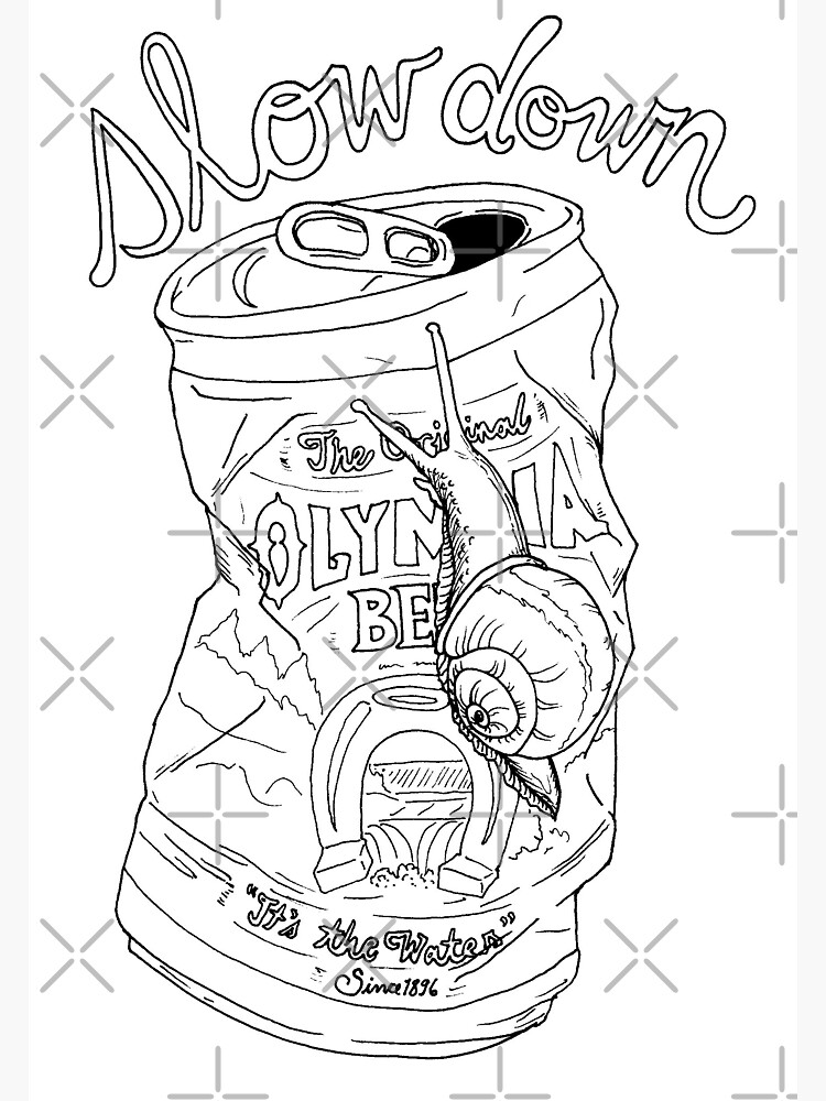 slow down snail | olympia beer can by craftordiy