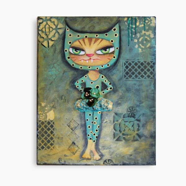 The Dancer - Babycat art by Angieclementine Canvas Print