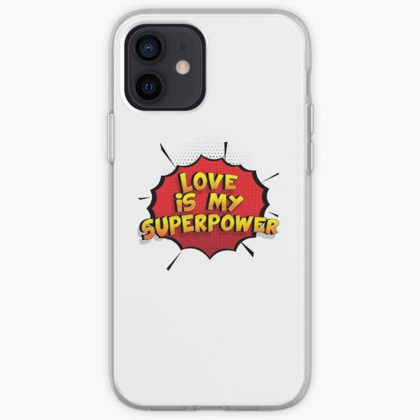Love ist mein Superpower Lustiges Love Designgeschenk iPhone Flexible Hülle