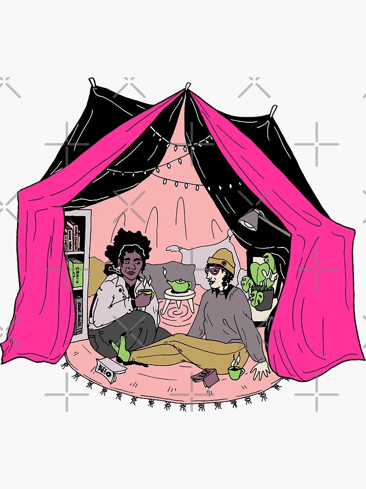 blanket fort illustration by craftordiy
