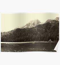 Sepia Toned String Lake Poster