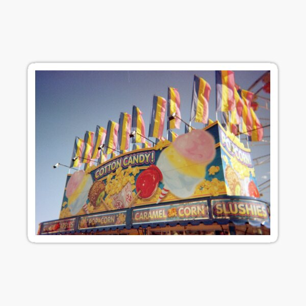 35mm Film Carnival Cotton Candy Booth Sticker