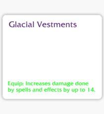Glacial Vestments Sticker