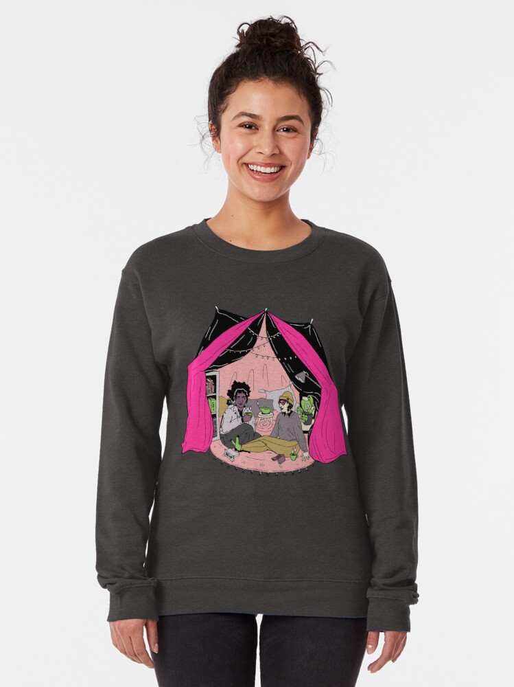 Alternate view of blanket fort illustration Pullover Sweatshirt