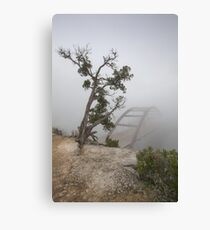 Austin Images - Pennybacker Bridge in Morning Fog 5 Canvas Print