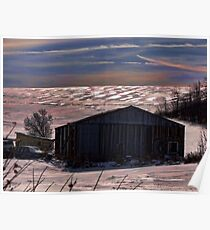 The Metal Shed in Snow Poster