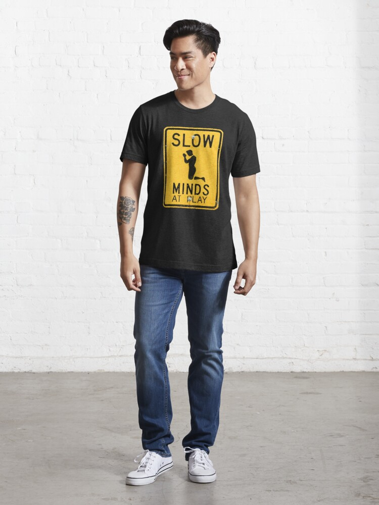 Alternate view of SLOW MINDS AT PLAY Essential T-Shirt