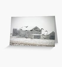 Snow Falling near Ballenger Creek Greeting Card