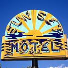 Route 66 - Sunset Motel by Frank Romeo