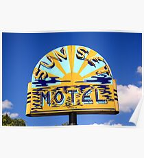 Route 66 - Sunset Motel Poster